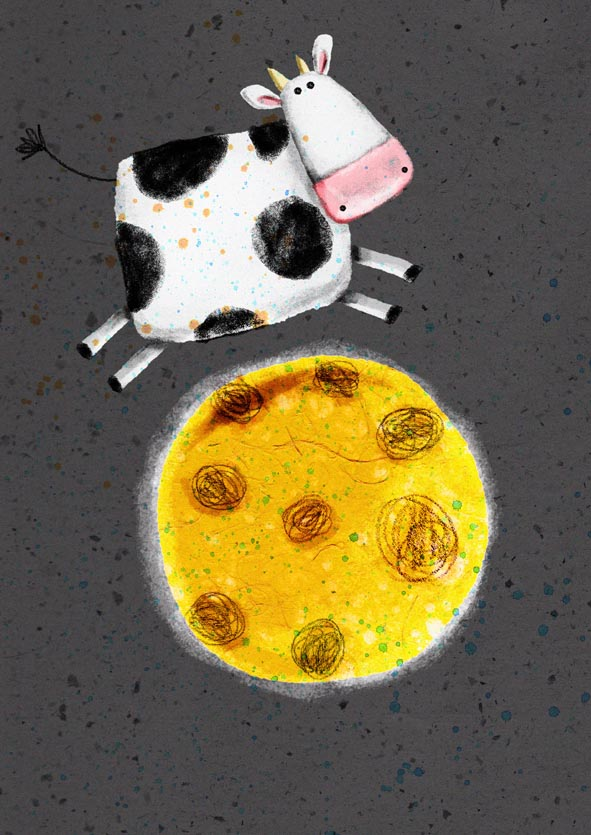 cow jumping over the moon coloring page - hey diddle diddle coloring pages free coloring pages