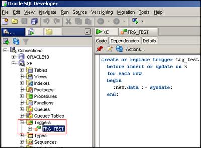Oracle views updating data