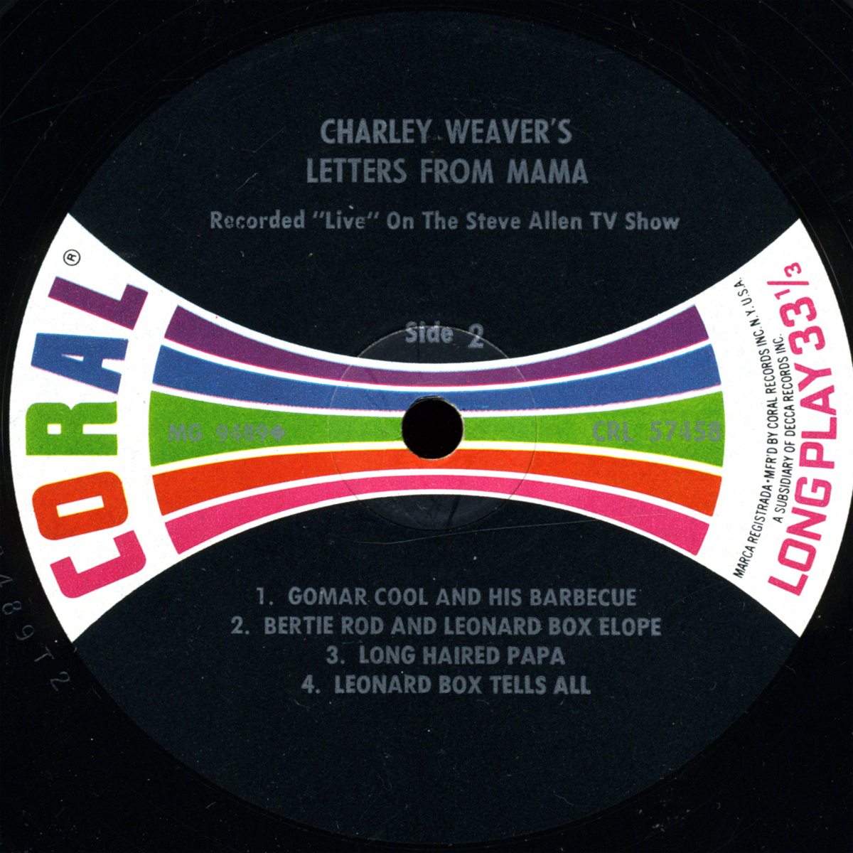 Charley Weaver S Letters From Mama