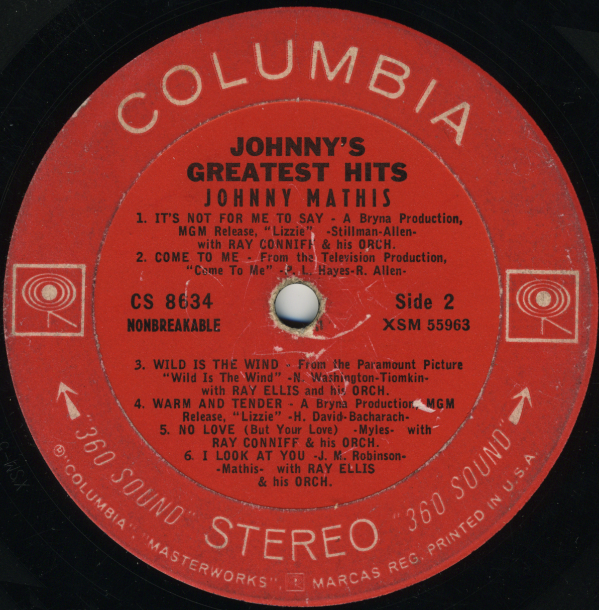I Got Your Back Johnny Mathis Johnny S Greatest Hits 1958