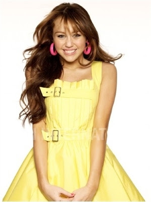 Miley Cyrus Yellow Dress