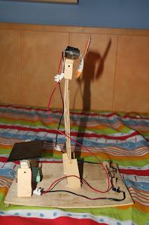 ventilador casero con panel solar