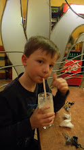 Logan Enjoying a Chocolate Shake, Ukrainian Style