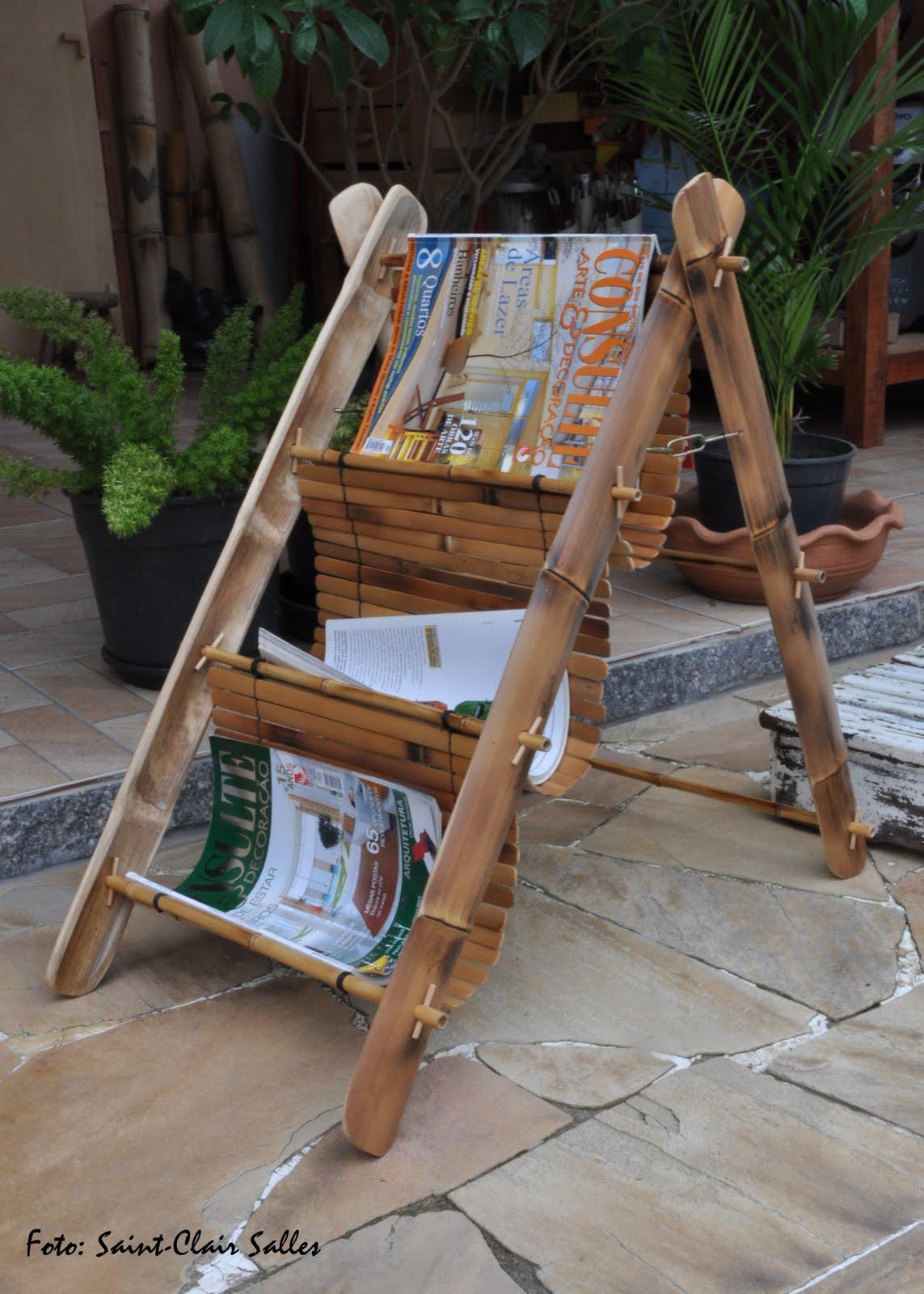 artesanato de bambu para jardim: em madeira e aluminio, propria para ornamentar sua varanda ou jardim