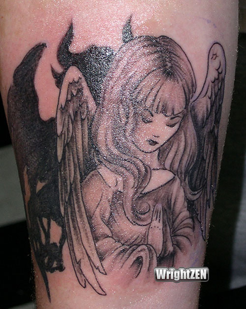 Angel Tattoos For Men - Tattoos Art