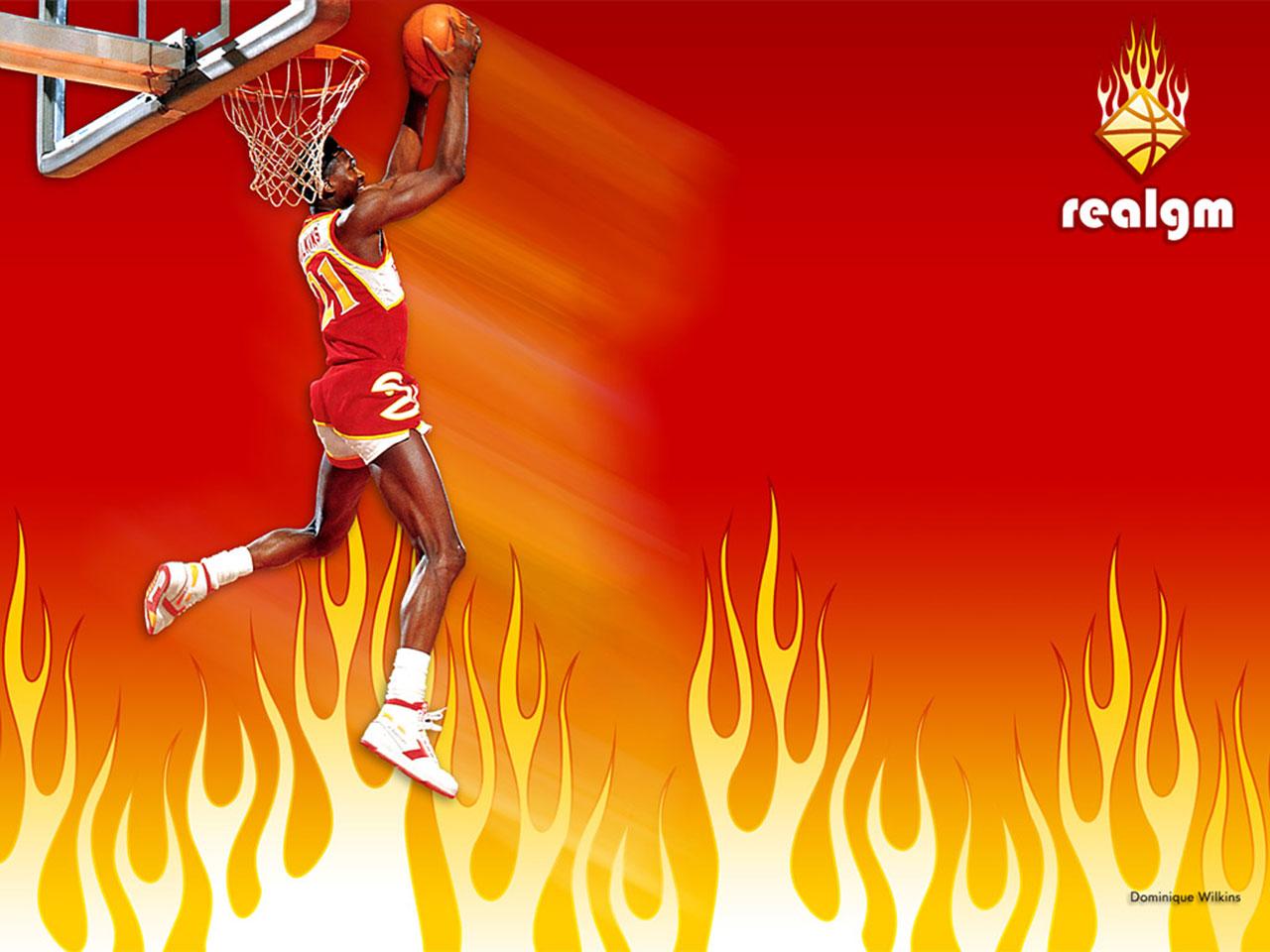 Top NBA Wallpapers: Dominique Wilkins Wallpapers Dominique Wilkins Wallpaper