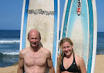 Dave and Katie Surfing in Hawaii