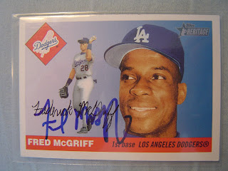 2004 Topps Heritage Fred McGriff autograph