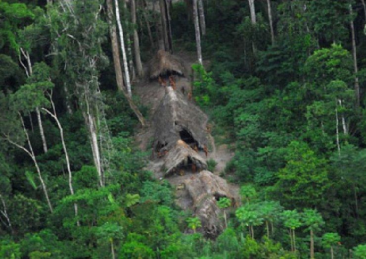 Une des dernières tribus isolées d'Amérique du sud, auBrésilàlafrontièreduPérou.