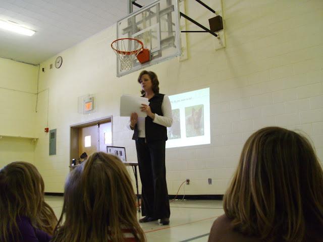 Presentating to Kdg & 1st Grade