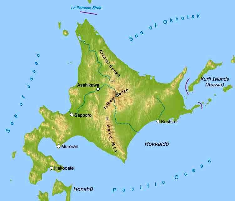 an analysis of the japans geography and the chain of four islands of hokkaido honshu shikoku and kyu Japan is a chain of islands called an what are the four islands of japan hokkaido, honshu, kyu- shu, shikoku 11% montana.