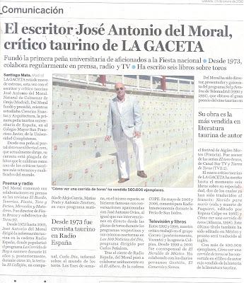 El esscritor José Antonio del Moral bilaketarekin bat datozen irudiak
