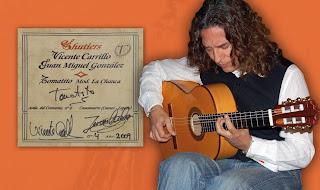 Etiqueta guitarra Alcazaba Blanca Tomatito