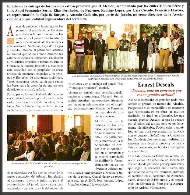 MEDINA DE POMAR-PINTURA-BURGOS-CONCURSO-ERNEST DESCALS