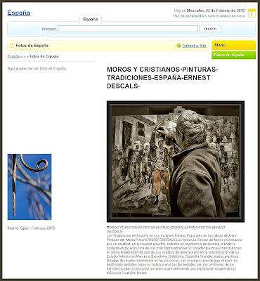 FOTOS-ESPAÑA-TRADICIONES-MOROS Y CRISTIANOS-ERNEST DESCALS-PINTURAS