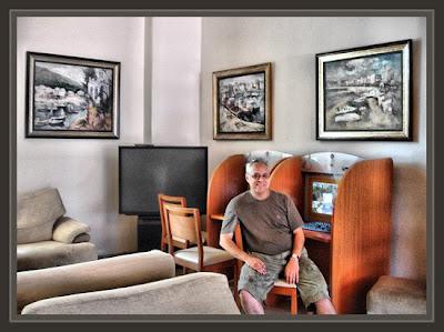 HOTELES-PLATJA D´ARO-ERNEST DESCALS-PINTURAS-SALON INTERNET