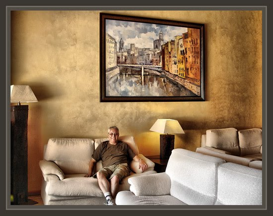 COSTA BRAVA-PLATJA D´ARO-HOTELES-ERNEST DESCALS-PINTURA-GIRONA-CATEDRAL