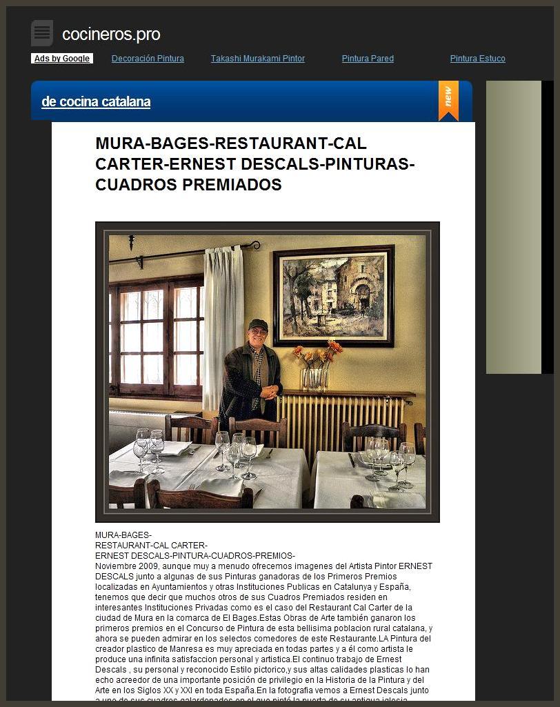 COCINA CATALANA-COCINEROS-RESTAURANTES-ERNEST DESCALS-MURA-CAL CARTER-PINTURAS