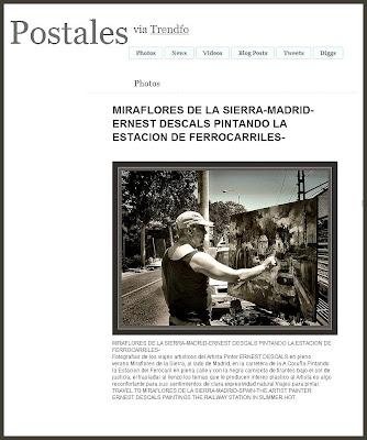 POSTALES-MIRAFLORES DE LA SIERRA-MADRID-ERNEST DESCALS-PINTORES