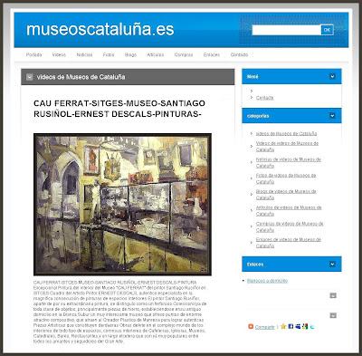 MUSEOS CATALUÑA-MUSEU-CAU FERRAT-SITGES-SANTIAGO RUSIÑOL-ERNEST DESCALS-PINTURAS