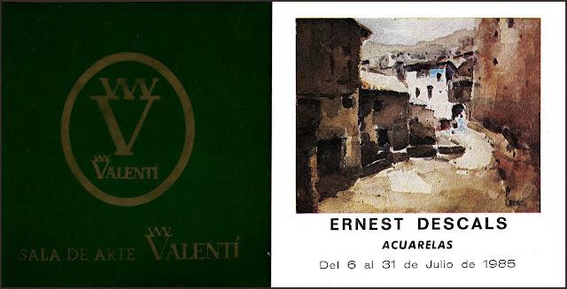 ALBARRACIN-ACUARELAS-EXPOSCION-ERNEST DESCALS-SALA DE ARTE VALENTI