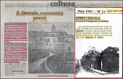 BISBAL-EMPORDA-PRENSA-PERIODICOS-EXPOSICION-PINTURA-ERNEST DESCALS