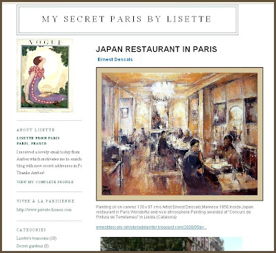 PARIS-RESTAURANTS-ERNEST DESCALS-PINTURAS