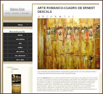 ARTE ROMANICO-PINTURA-ERNEST DESCALS-GALERIA SELON
