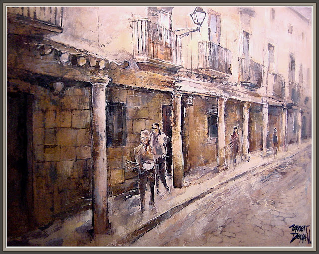 CERVERA-CARRER MAJOR-CUADROS-PINTURA-ERNEST DESCALS