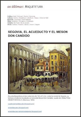 SEGOVIA-ACUEDUCTO-MESON CANDIDO-ERNEST DESCALS-ARQUITECTURA