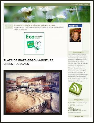 RIAZA-SEGOVIA-PLAZA-ERNEST DESCALS-PINTURAS-