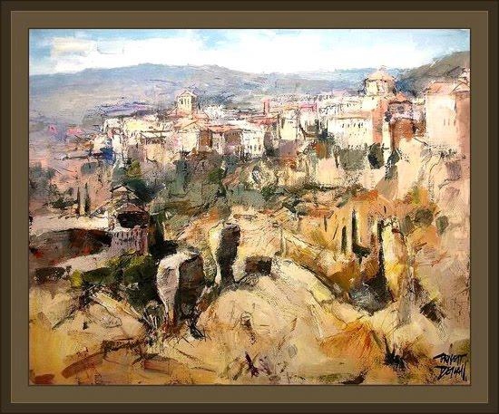 cuenca-casas colgadas-pinturas-ernest descals