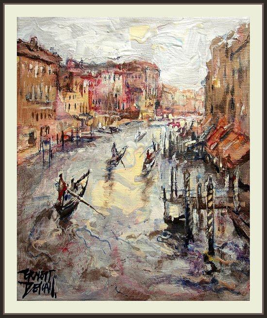 venecia-venezia-venice-GONDOLAS-ernest descals-gran canal-pinturas