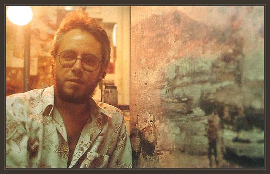 ERNEST DESCALS EN SU ESTUDIO-FOTOS DE JOAN VILLAPLANA-1989