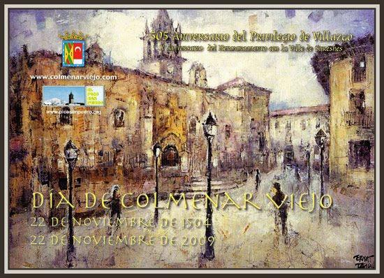 colmenar viejo-505 aniversario privilegio de villazgo-ernest descals-cartel