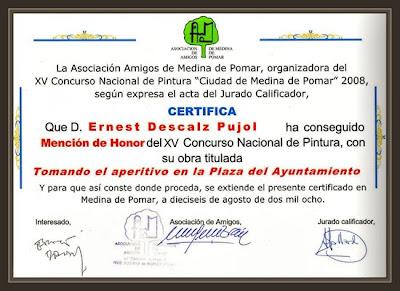 MEDINA DE POMAR-BURGOS-AYUNTAMIENTO-PREMIOS-PINTURA-PINTOR-ERNEST DESCALS