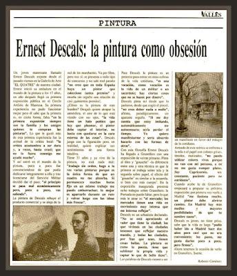 REVISTA-VALLES-GRANOLLERS-EL QUATRE-EXPOSICION-PINTURAS-ERNEST DESCALS-ENTREVISTAS-PERIODISMO-ROBERTO GIMENEZ