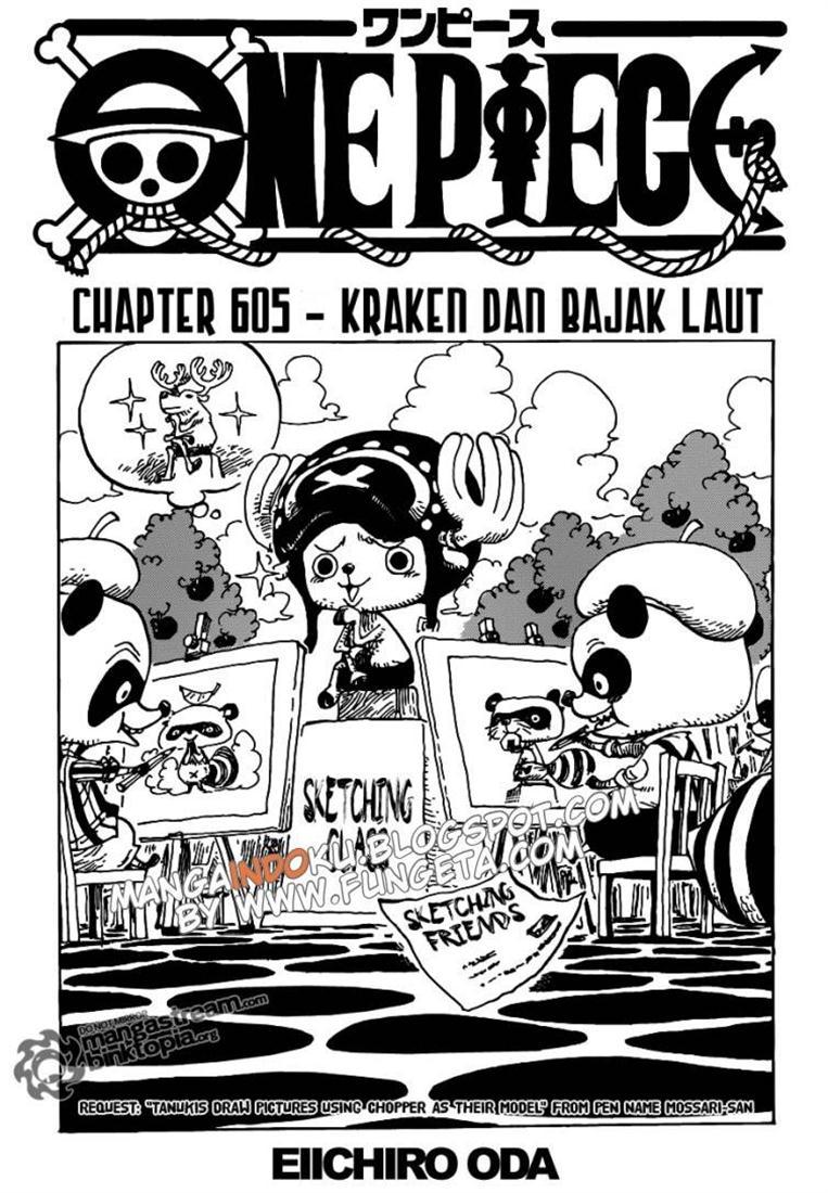 01 One Piece 605   Kraken dan Bajak Laut