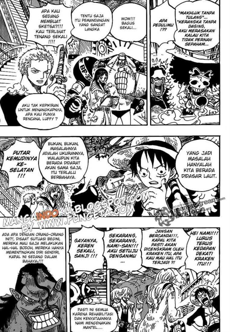 03 One Piece 605   Kraken dan Bajak Laut