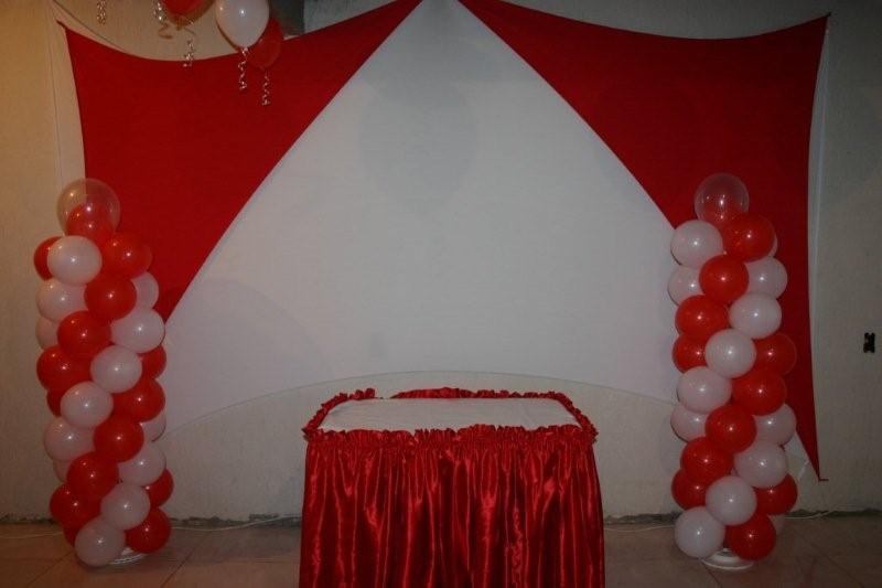 Arte Eventos Festas E Decorações~ Decoracao Festa Branco E Vermelho