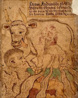 Nordische Mythologie die Urgötter Audhumla, Buri, Bor und Bestla