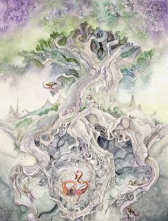 Nordische Mythologie der Weltenbaum Yggdrasil