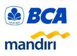 Pembayaran Via Tranfer Bank BCA atau Bank Mandiri