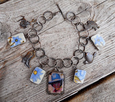Vintage Cowgirl Charm  Bracelet
