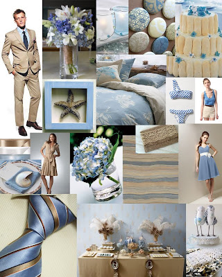 Blue and Khaki Inspiration Board images from WithThisRingWeddings
