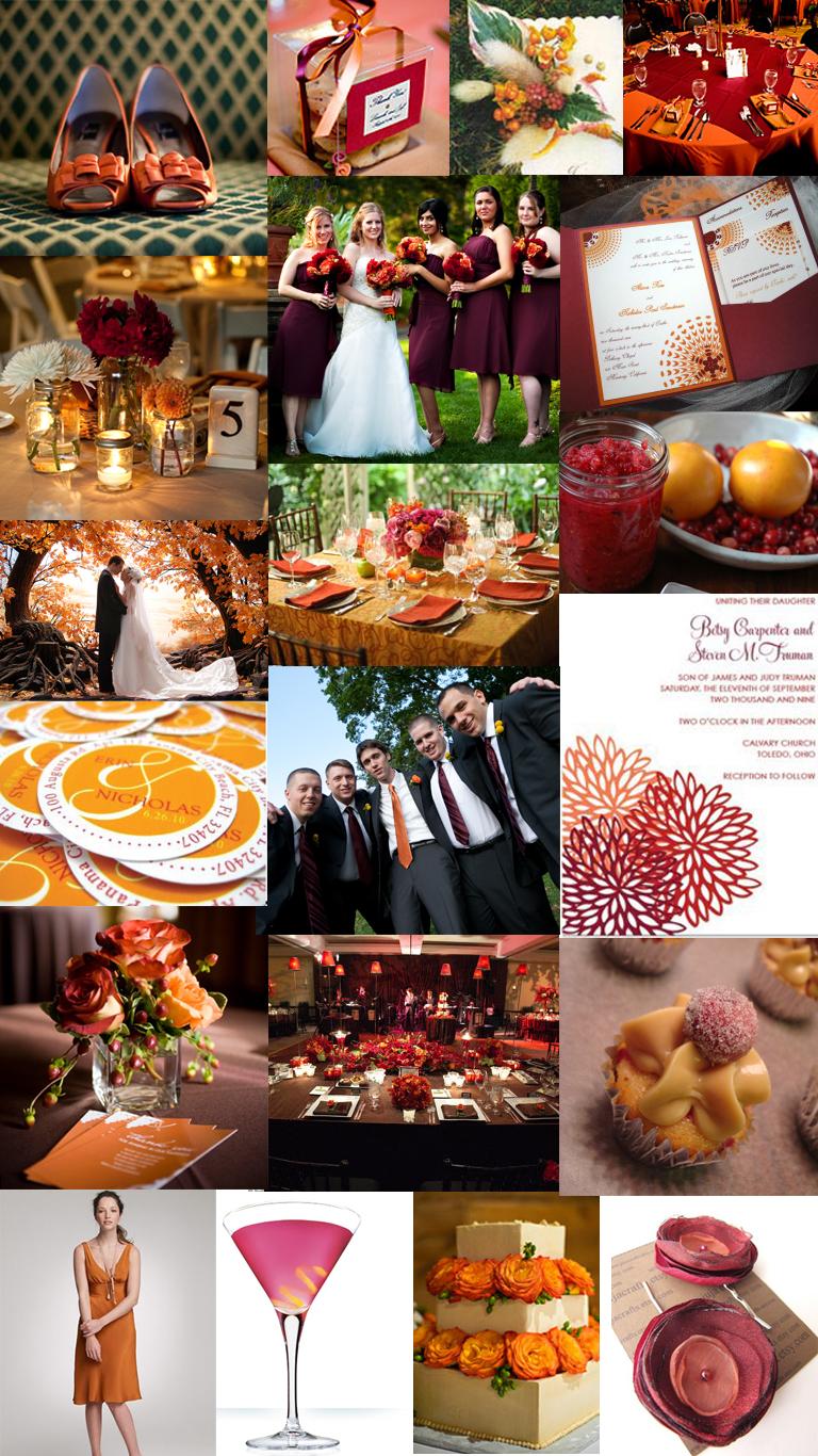 Cranberry Burgundy Orange Pumpkin Fall