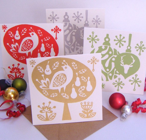 we love these screen printed cards by treasurydesigns they are whimsical fun and sure to stand out with their beautiful metallic - Papyrus Holiday Cards