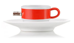 USB Flash pen drives - tea cup
