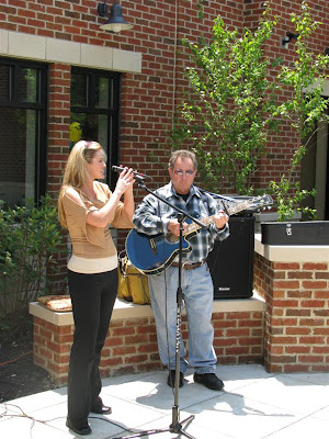 Kristi and James Madison during their live performance
