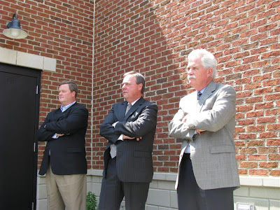 Architect Chris Cottongim, board memember Jim Davis, and design consultant Dan Smith